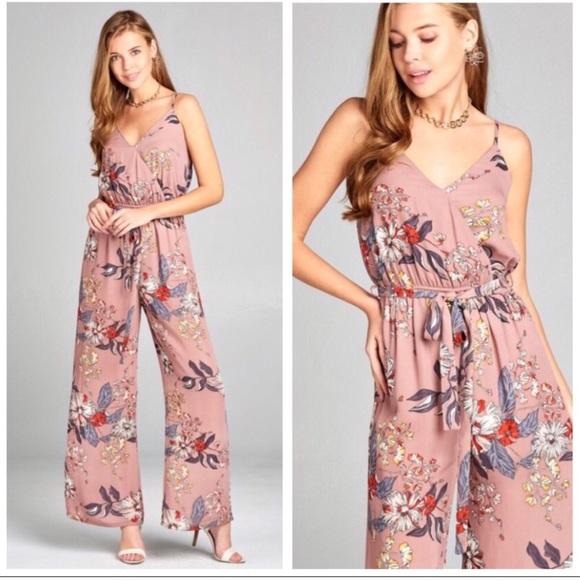 cd0aa2270e Mauve Floral Print Jumpsuit